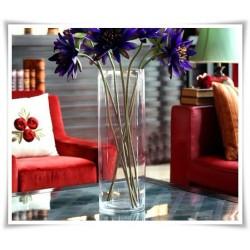 Wazon cylinder za szkła, szklana tuba, wazan w kształcie walca 50 cm - 1