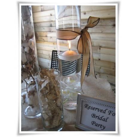 Wazon szklany cylinder, walec szklany, tuba za szkła 50 cm - 1