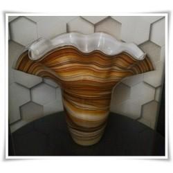 Wazon szklany kolorowy z artystycznego szkła chusta H-35 cm PASY