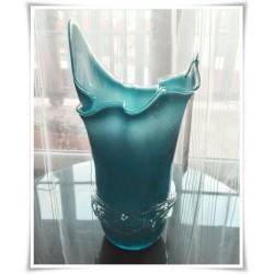 Wazon szklany kolorowy z artystycznego szkła chusta H-35 cm OWI