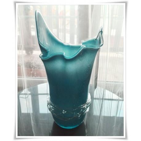 Wazon szklany kolorowy z artystycznego szkła chusta H-35 cm OWI - 1