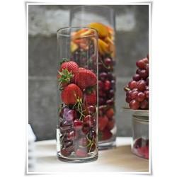 Wazon szklany cylinder, walec ze szkła, tuba szklana 30 cm - 1