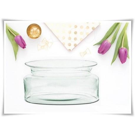 Salaterka szklana, miska z eko-szkła, naczynie na pływający świecznik - 1