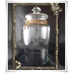 Słój szklany z pokrywką W-332J H-30 cm D-19 cm / szkło ekologiczne - 1