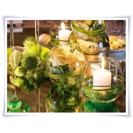 Wazon, świecznik, kula eko-szkło D-15cm