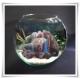 Wazon szklana kula, świecznik w kształcie kuli z eko-szkła 20 cm - 7