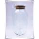 Dekoracyjny duży słój szklany 42cm z korkiem , terrarium na las w szkle, miniogródek - 3