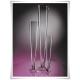 Wazon szklany na stopce 40 cm, stożek, pilsner, dekoracja ślubna - 9