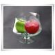 Salaterka szklana na nóżce KK-4 H-15,5 cm D-16 cm / szkło ekologiczne - 6