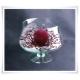 Salaterka szklana na nóżce KK-4 H-15,5 cm D-16 cm / szkło ekologiczne - 5
