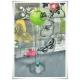 Szklany kielich, wazon stożek W-139 H-40 cm / szkło ekologiczne - 6