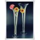 Szklany kielich, wazon stożek W-139 H-40 cm / szkło ekologiczne - 1