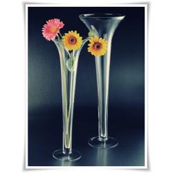 Szklany kielich, wazon stożek W-139 H-40 cm / szkło ekologiczne