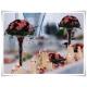 Szklany kielich, wazon stożek W-139 H-40 cm / szkło ekologiczne - 5