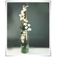 Tuba szklana, wazon cylindryczny H-38 cm D-11 cm / szkło ekologiczne - 7