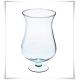 Szklany wazon, świecznik z eko-szkła, lampion na stopce 30 cm - 2
