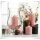 Szklany wazon, świecznik z eko-szkła, lampion na stopce 30 cm - 1