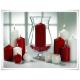 Szklany wazon, świecznik z eko-szkła, lampion na stopce 30 cm - 4