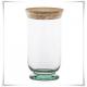 Flakon szklany, pojemnik z korkiem Atena H-25 cm / szkło ekologiczne - 2