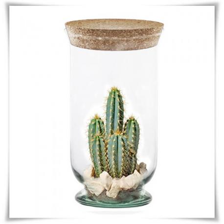 Wazon, świecznik eko-szkło Atena H-25 z korkiem