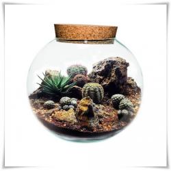 Wazon, świecznik, kula eco-szkło D-25cm z korkiem