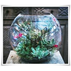 Wazon, świecznik, kula eco-szkło D-25cm