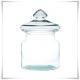 Wazon słój szklany, pojemnik 20 cm ze szklaną pokrywką