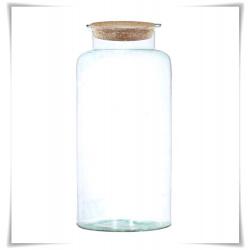 Słój szklany z korkiem W-332B1 H-40 cm D-19 cm / szkło ekologiczne