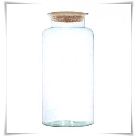 Słój szklany z korkiem W-332B1 H-40 cm D-19 cm / szkło ekologiczne - 1