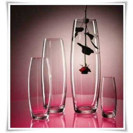 Wazon szklany wysoki OGÓREK H-70 cm D-19 cm - 1