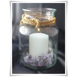 Wazon świecznik pojemnik naczynie słój terrarium H-18,5 D-11