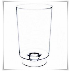 Duży wazon szklany cylindryczny na stopie LEON H-42,5 cm D-27 cm