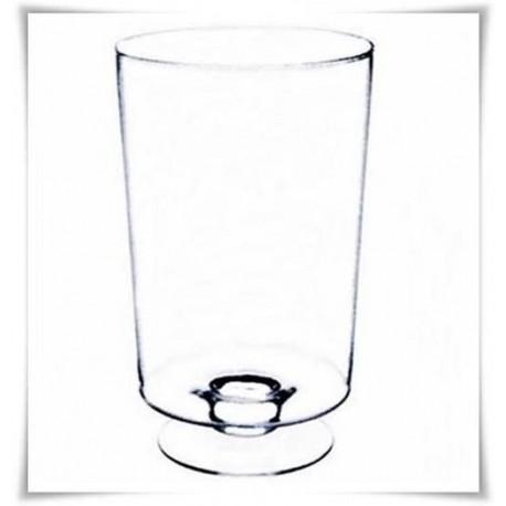 Duży wazon szklany cylindryczny na stopie LEON H-42,5 cm D-27 cm - 2