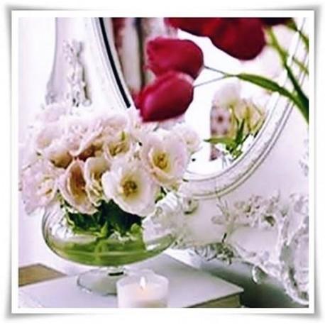 Kula szklana słaszczona, wazon z eko szkła na stopne 15 cm - 1