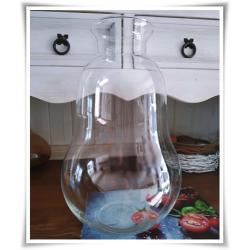 Szklany słoik dekoracyjny, żarówka H-38 cm D-11 cm - 1