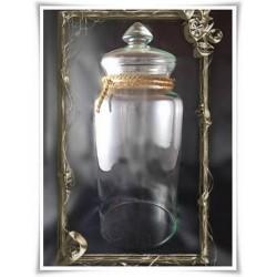 Wazon świecznik pojemnik naczynie słój terrarium H-40 D-15 z POKRYWKĄ