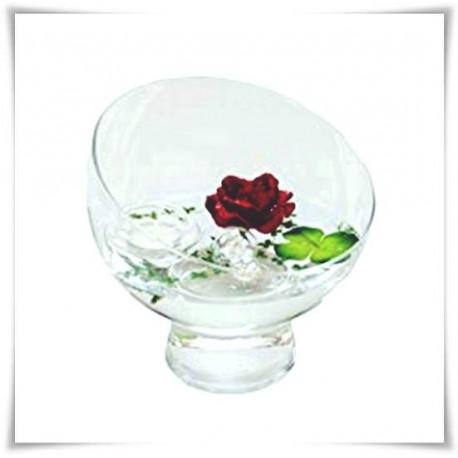 Wazon kula szklana, świecznik z eko-szkła, naczynie do candy bar 20cm - 1