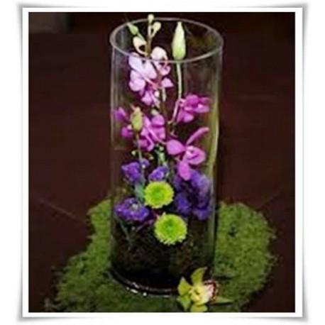 Wazon cylinder za szkła, szklana tuba, wazan w kształcie walca 40 cm - 1
