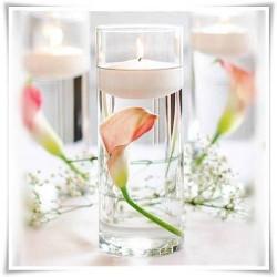 Wazon szklany cylinder, walec ze szkła, tuba szklana 25 cm - 1
