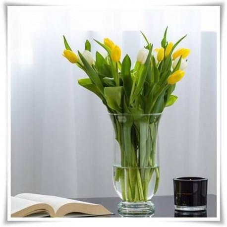 Wazon szklany, świecznik z bezbarwnego szkła, lampion mitras 25 cm - 1