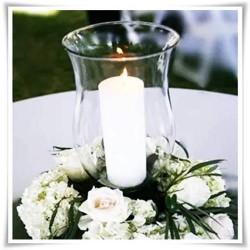 Kielich, wazon, świecznik eko-szkło W-93A H-25