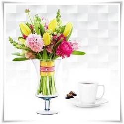 Kielich, świecznik, wazon eko-szkło W-136 H-25 D-14