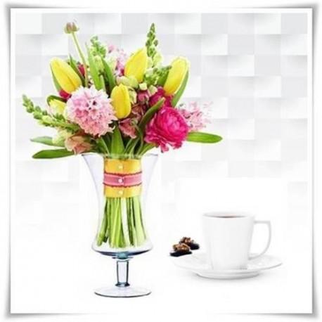 Kielich, świecznik, wazon eko-szkło W-136 H-25