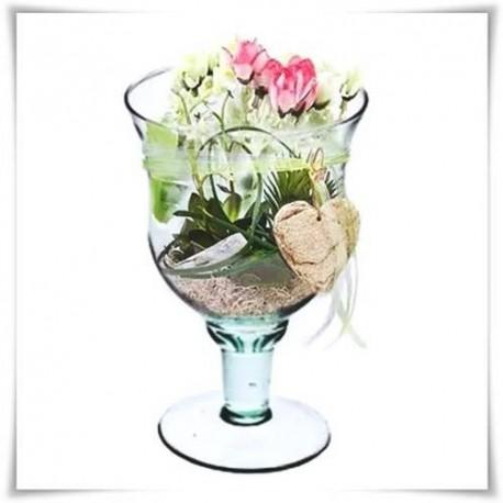 Kielich, świecznik, wazon eko-szkło W-120 H-22 D-15