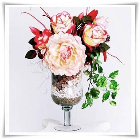 Kielich, wazon szklany, świecznik W-118 H-28