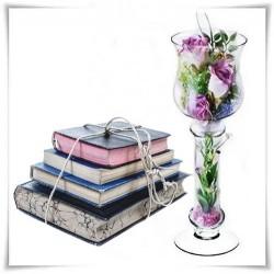 Kielich, świecznik, wazon eko-szkło S-7 H-33