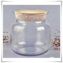 Słój szklany z korkiem W-332A H-20 cm D-19 cm / szkło ekologiczne - 1