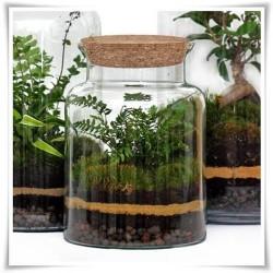 Słój szklany z korkiem W-332 H-25 cm D-19 cm / szkło ekologiczne - 1