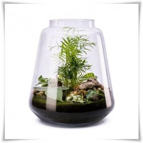 Duży słój LATARNIA, wazon szklany, terrarium H-35