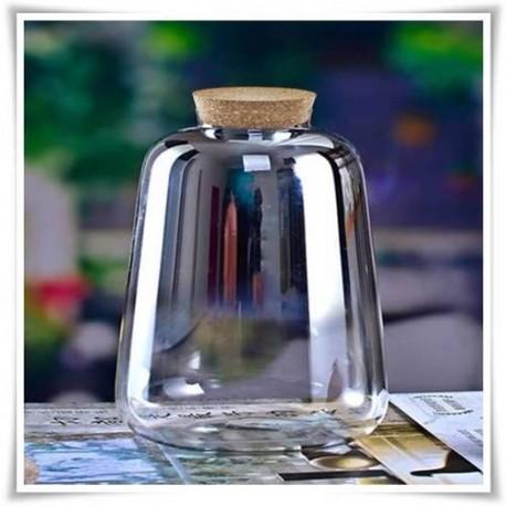 Duży słój LATARNIA, wazon szklany, terrarium H-35 z korkiem